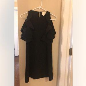 Cold Shoulder Crepe Dress